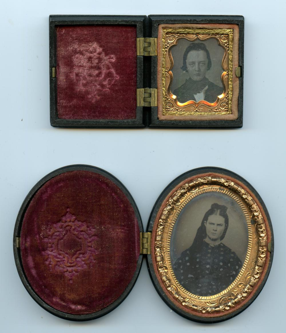 Two Images Housed in Thermoplastic Cases- Gem and Ninth Plate
