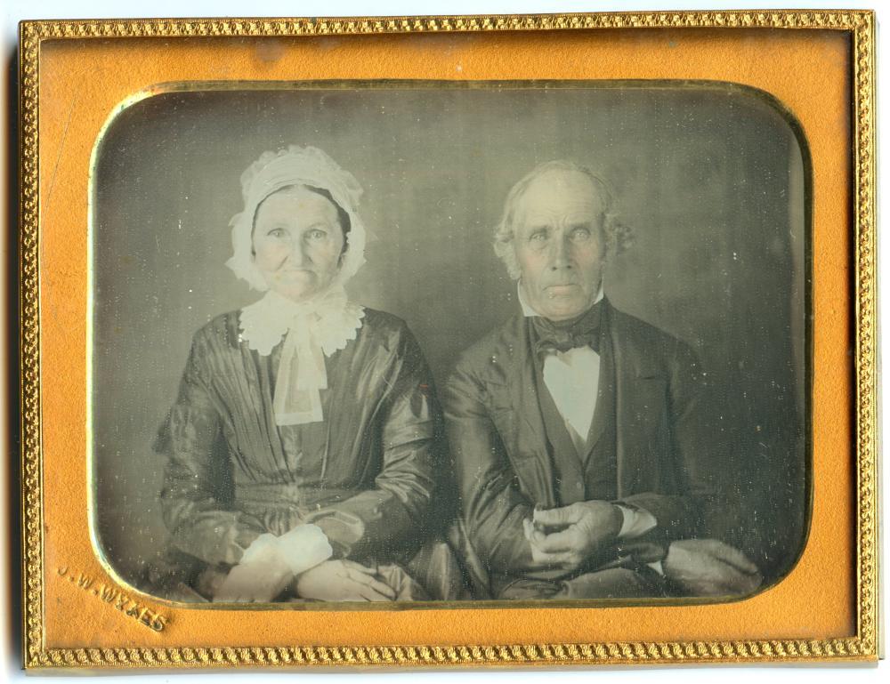 Quarter Plate Daguerreotype of Elderly Couple- Named Artist