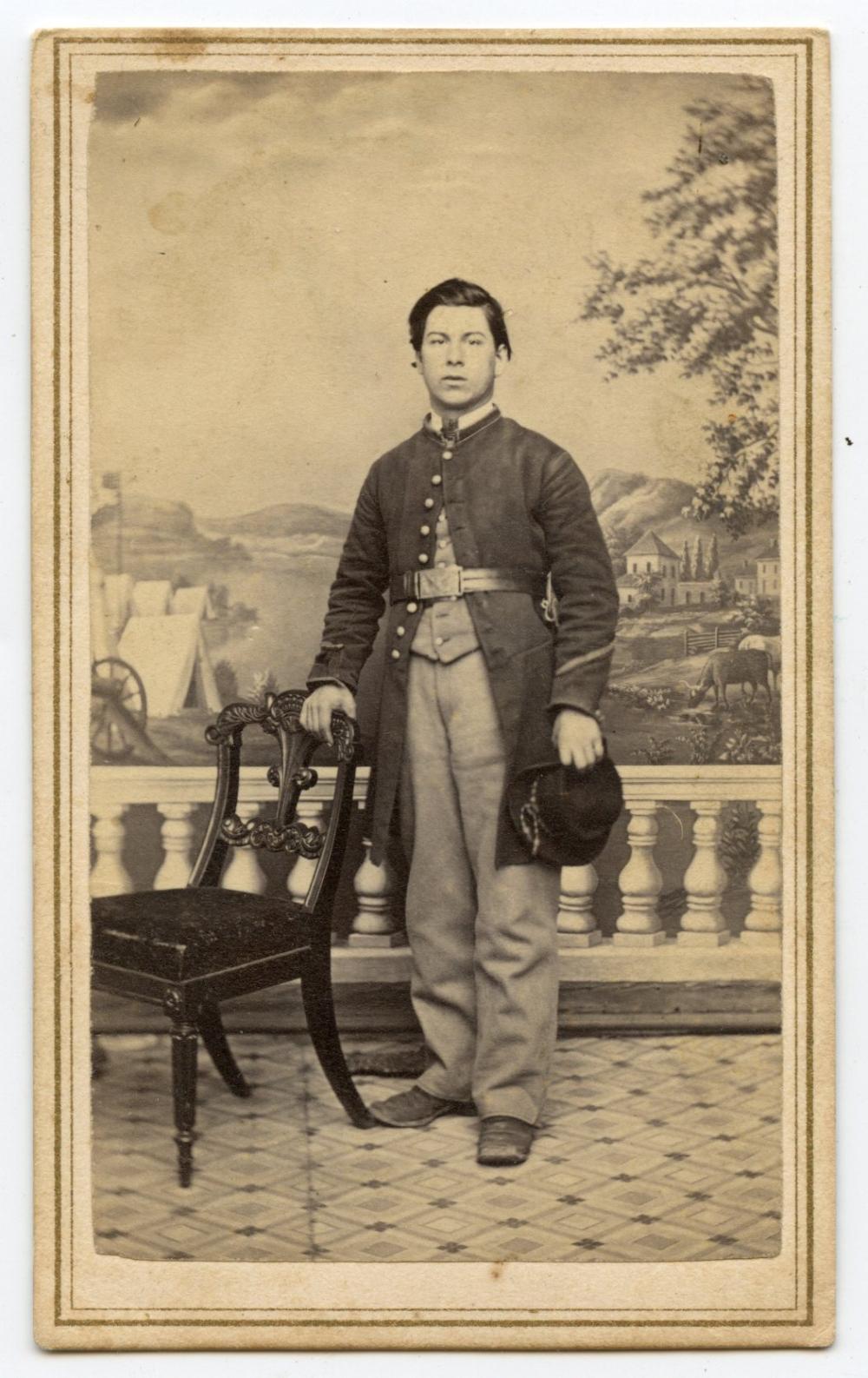 Civil War CDV Young Soldier DC Backmark