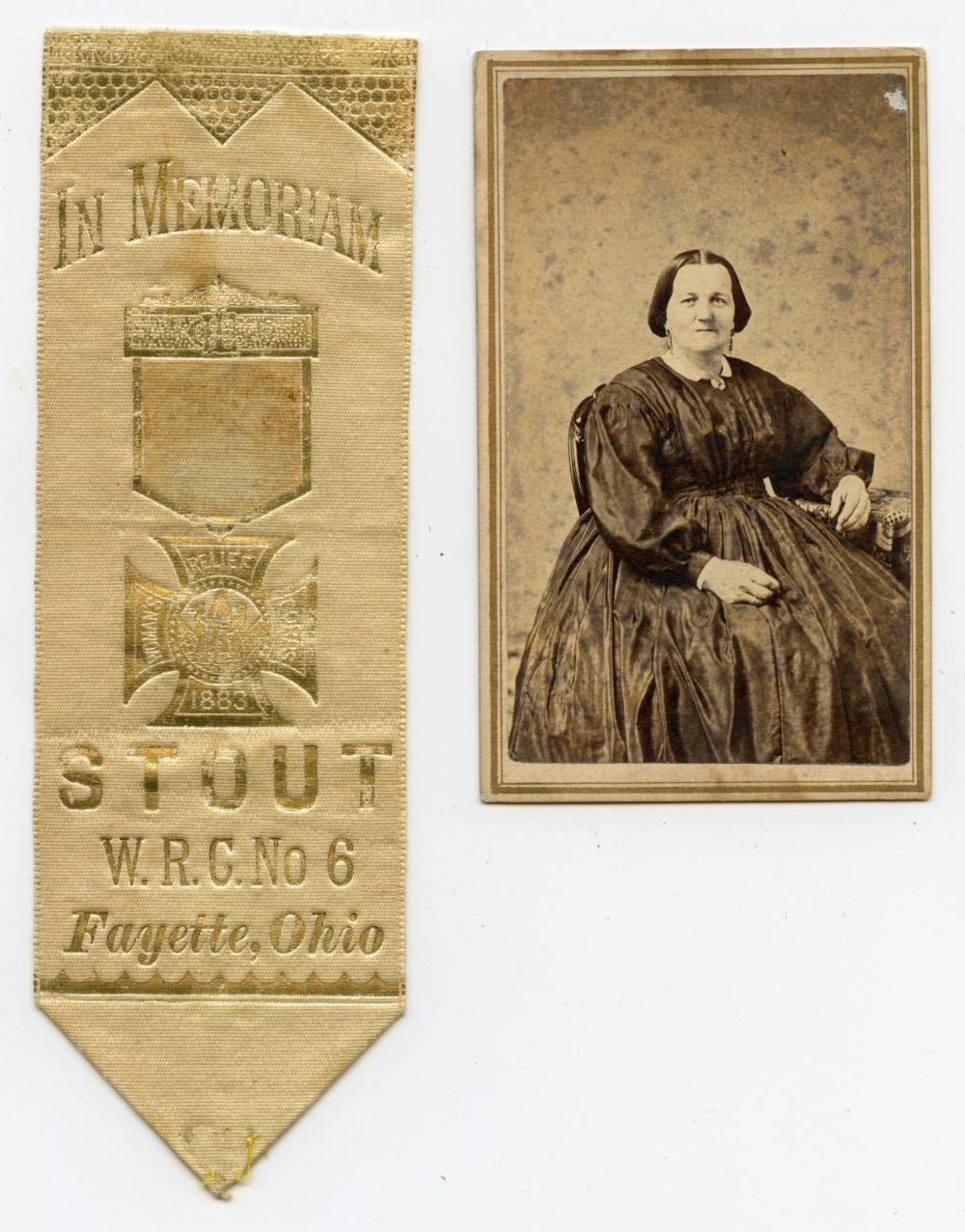Civil War CDV and Women's Relief Corps Ribbon