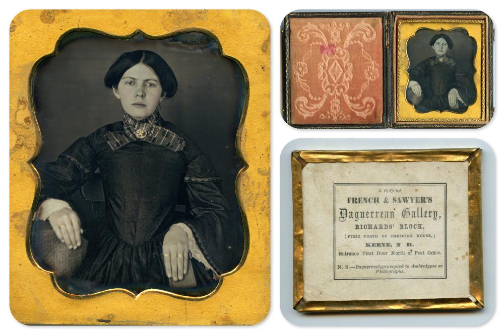 Impressive Daguerreotype by French and Sawyers of Keene, NH