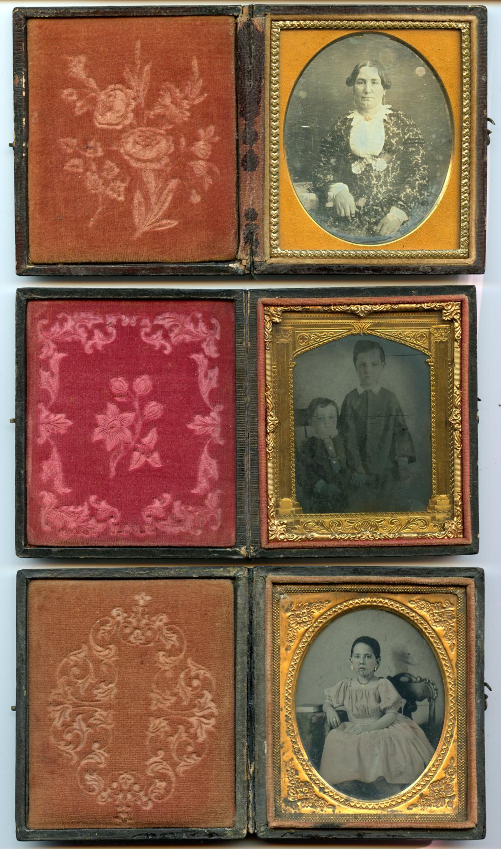 Three Sixth Plate Portraits