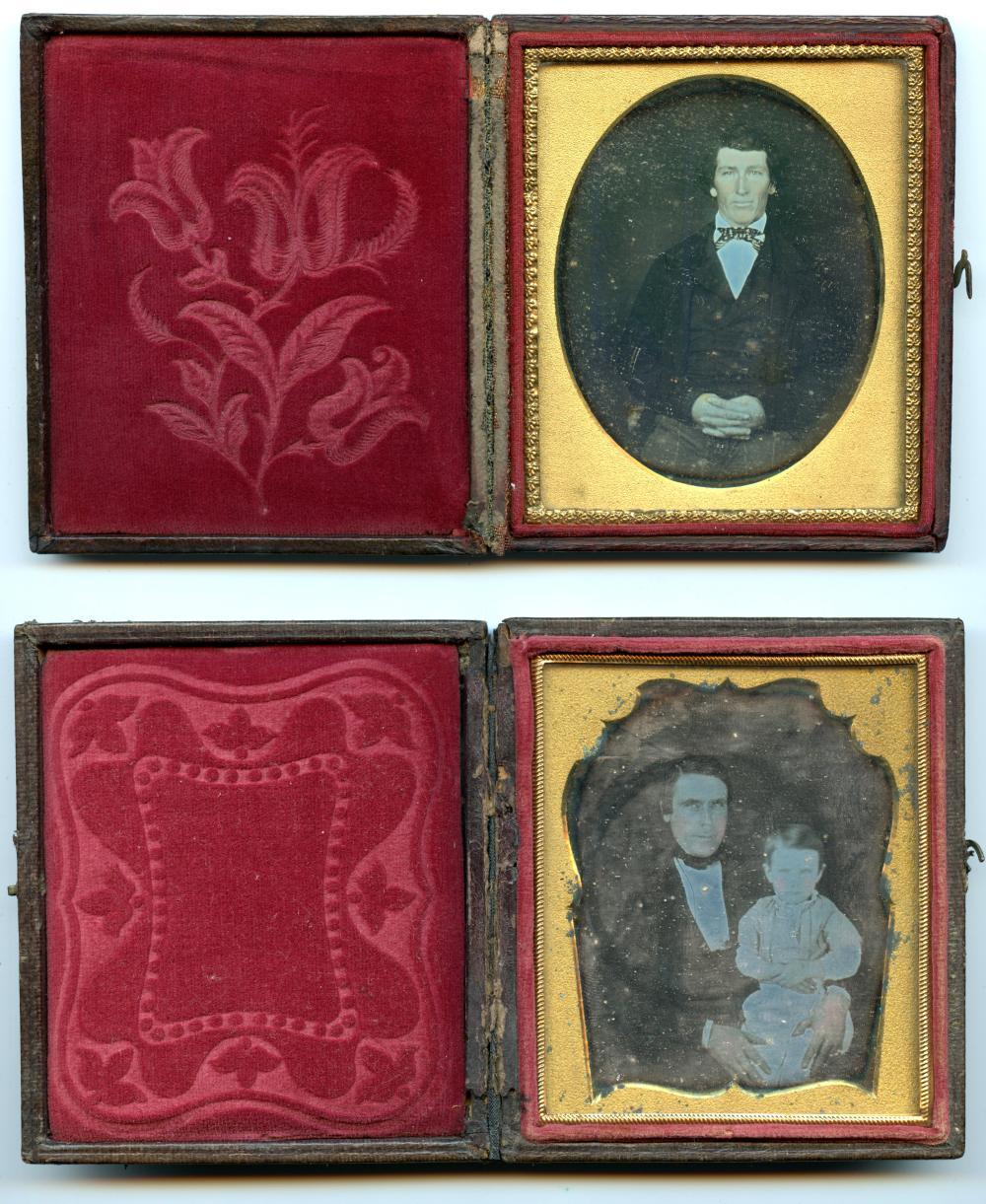 Daguerreian Duo- Two Sixth Plate Daguerreotypes