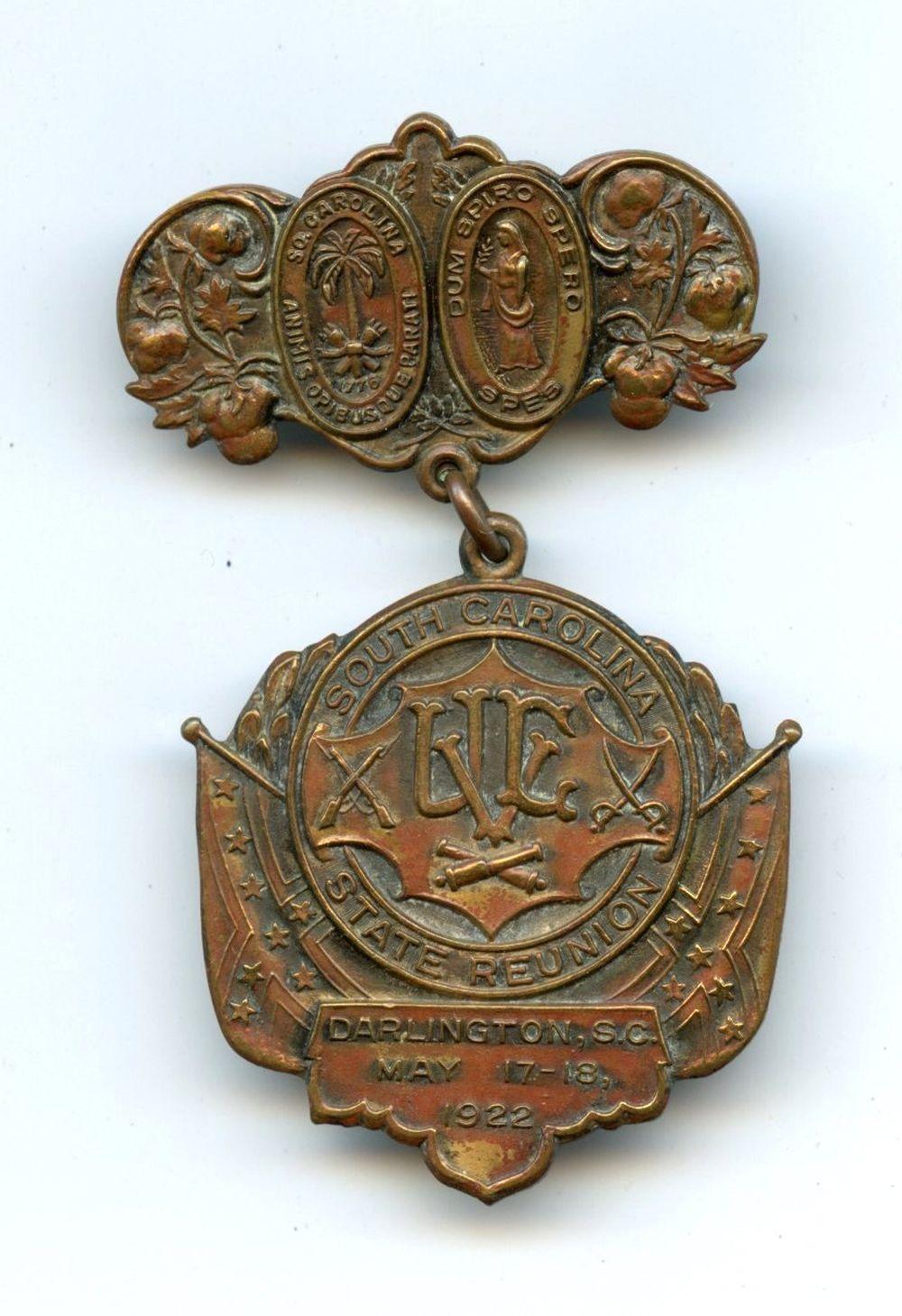 South Carolina Confederate Veteran Reunion Badge