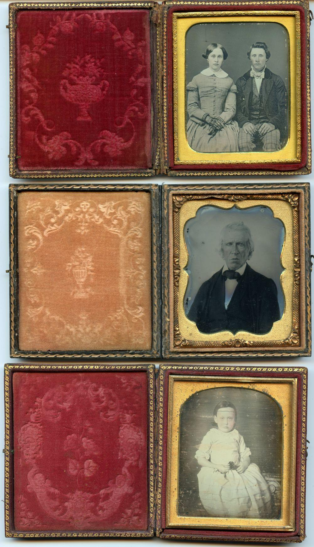 Three Great Images- Two Daguerreotypes, One Ambrotype