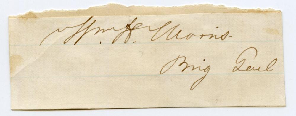 Civil War William H. Morris Signature, WIA
