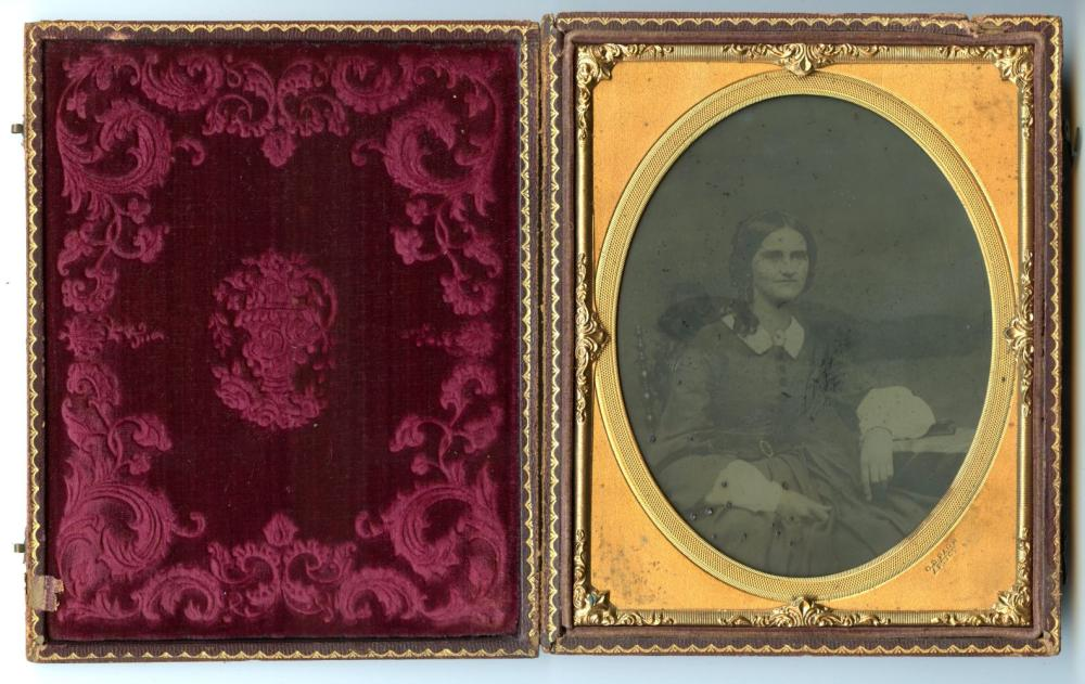 """Half Plate Ambrotype- Named Photographer, """"C.D Page"""""""