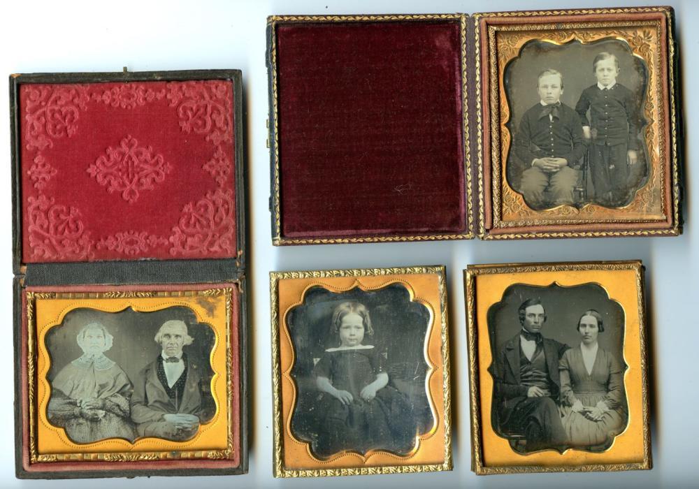 Four Nice Sixth Plate Daguerreotypes