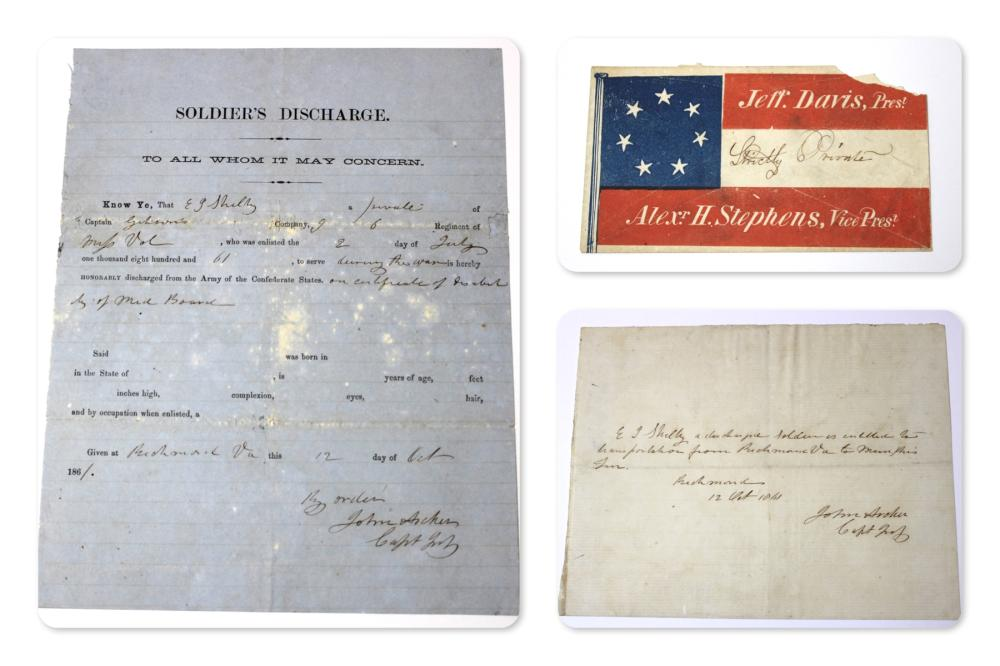 MS Civil War Confederate Cover, Discharge, Note
