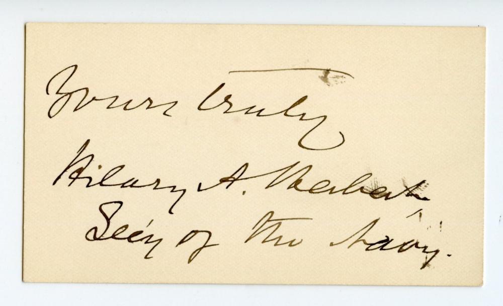 Civil War Confederate Signature Hilary A. Herbert