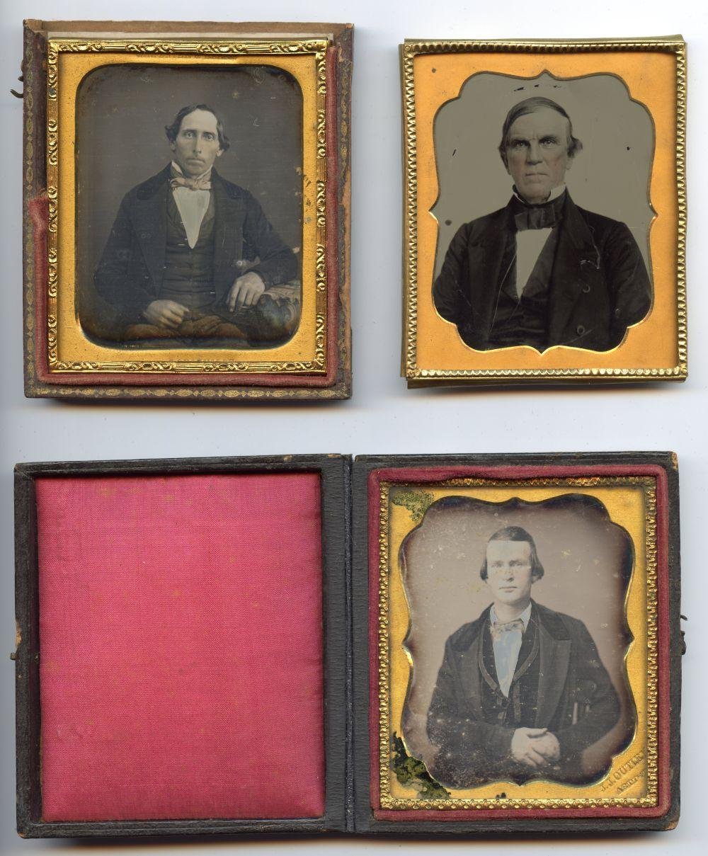 Southern Daguerreotype Lot Stamped w/ Artist Name