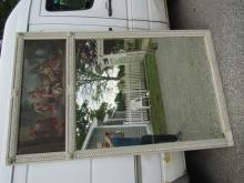 LARGE TRUMEAU MIRROR & PAINTING