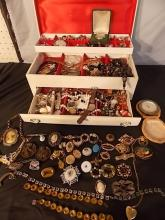 LOT COSTUME JEWELRY INCLUDING VICTORIAN
