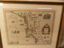 EARLY DUTCH MAP NEW ENGLAND NOVA BELGICA 1635