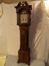 INLAID MAHOGANY GRANDMOTHER CLOCK