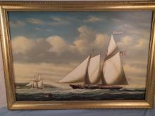 YACHT PAINTING BY COLACICCO