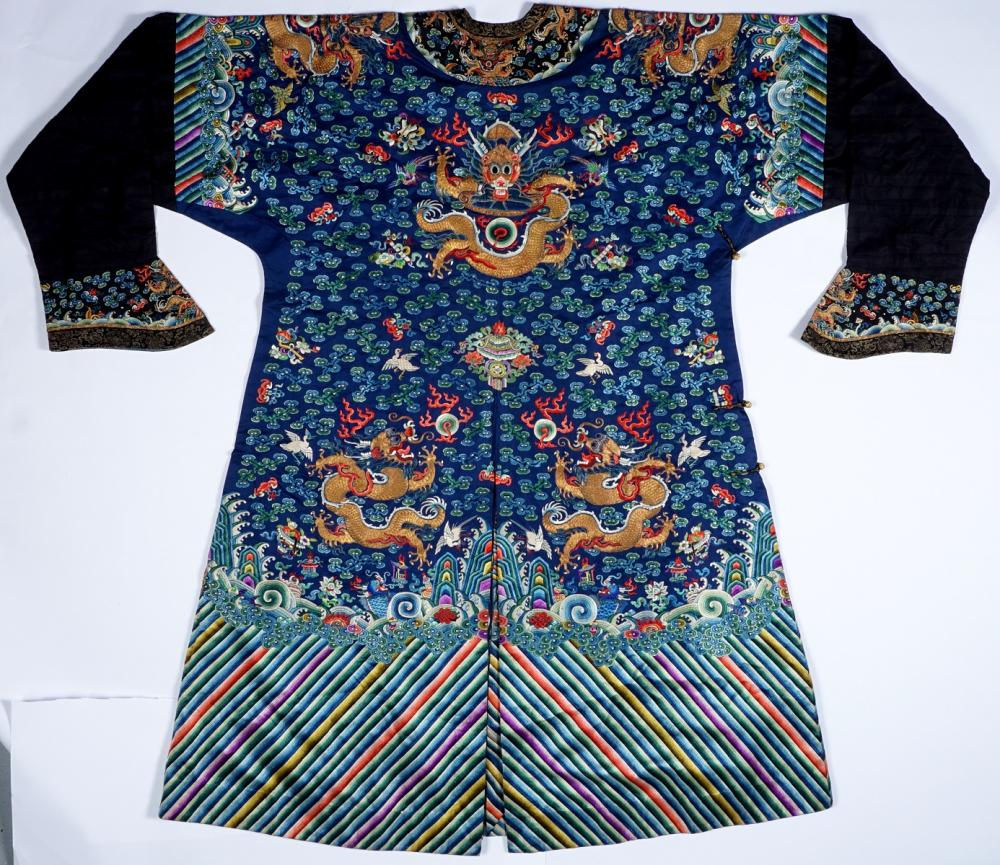 bbabbacde80ca Qing Chinese Imperial Court Kesi Dragon Robe