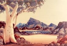 Claude Pannka Central Australian Watercolor