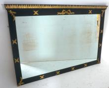 French Ebonized and Gilt Decorated Mirror