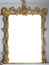 Palatial Rococo Carved Gilt Wood Mirror