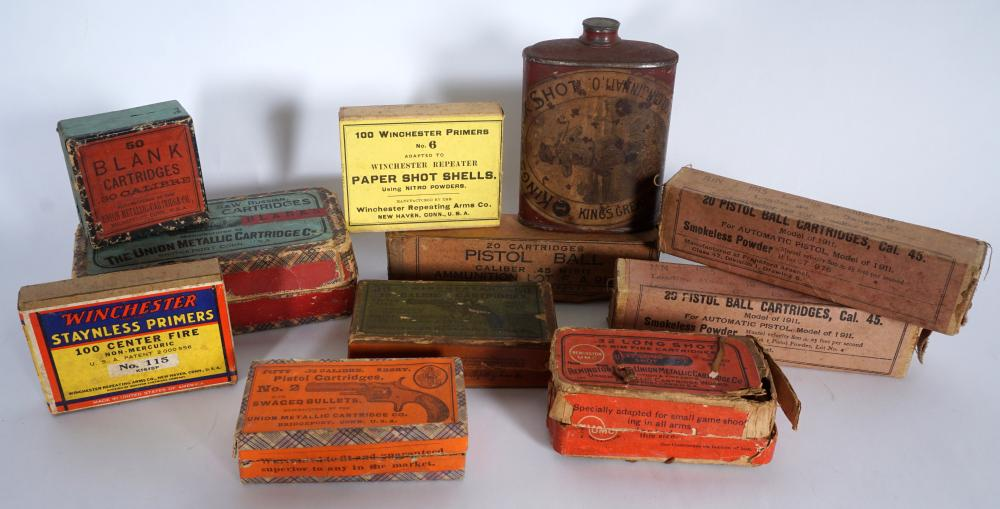 Collection of Antique & Vintage Boxed Ammunition
