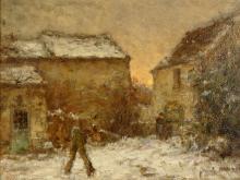 Jean Eugene Julien Masse Winter Luzancy Painting