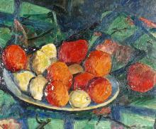 Andor Basch Still Life of Fruit in Bowl