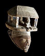 An interesting wood 'Gelede' mask, Nigeria 19th century