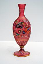 A very lovely French glass paste vase