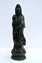 A green carved China jade sculpture