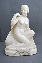 A very fine withe Carrara marble sculpture, by Guglielmo Pugi (Florence 19th century)