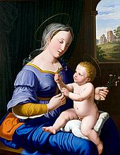 A very fine oil panting depicting 'Madonna and Child' by Marquard Wocher