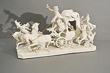 A very fine Russian porcelain biscuit group sculpture