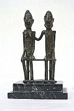 An Africain bronze sculpture