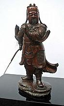 A wooden sculpture of a Japan Warrior