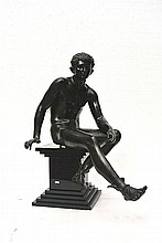 A bronze sculpture of Mercury