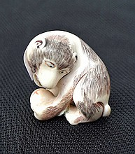 An ivory carved Netsuke