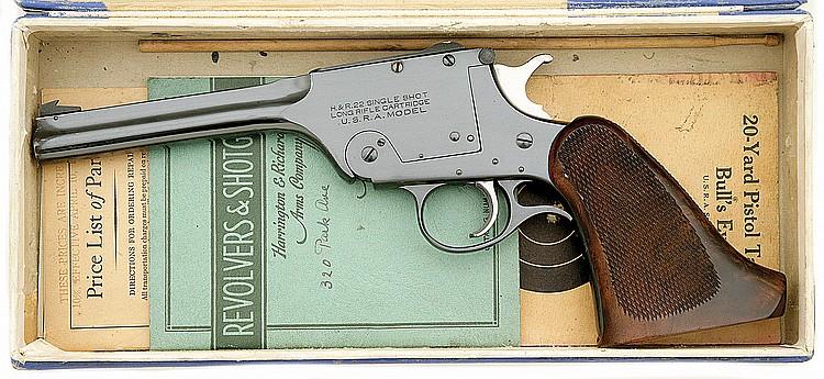 Harrington & Richardson U S R A  Model 195 Single Shot Targe