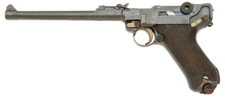 German LP 08 Artillery Luger Pistol by DWM with Unit Marking
