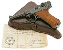 German P.08 Mauser Banner Police Contract Luger Pistol