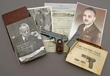 U.S. Colt Model 1908 Pocket Hammerless General Officers Pistol belonging to Brigadier General Georges Doriot