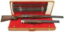 Lovely Browning Superposed Midas Grade Two Barrel Set Shotgun with Purbaugh Tubes