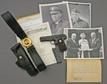 U.S. Colt Model 1903 Pocket Hammerless General Officers Pistol belonging to Maj. Gen. Bruce Easley Jr.
