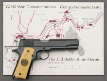 Colt WWI Second Battle of the Marne Model 1911 Commemorative Semi-Auto Pistol Set