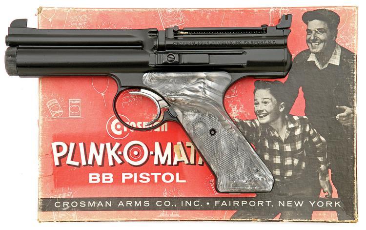 Rare Crosman Model 677 Plink-o-Matic CO2 Air Pistol