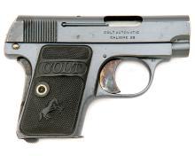 Colt Model 1908 Vest Pocket Hammerless Semi-Auto Pistol