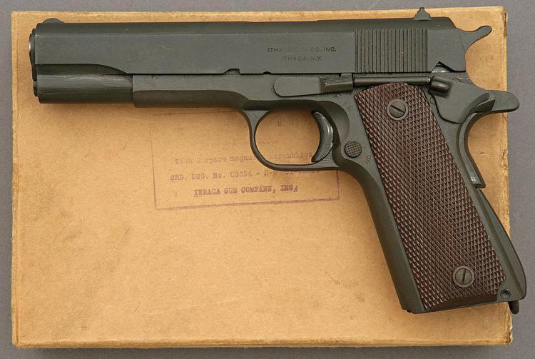 U S  Model 1911A1 Pistol by Ithaca Gun in Original Kraft Box