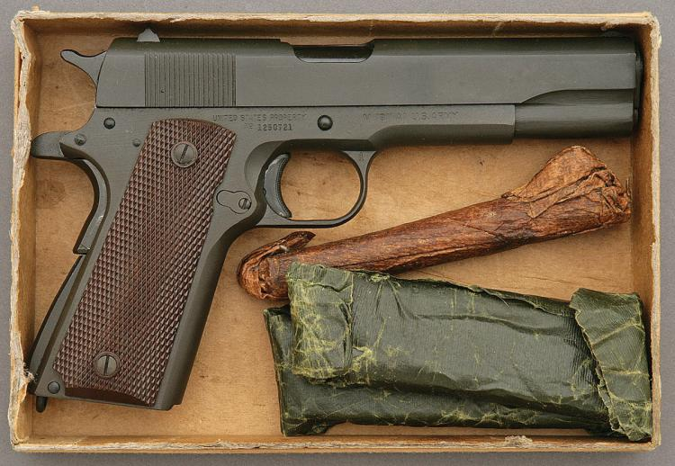 U S  Model 1911A1 Pistol by Ithaca Gun in Original Kraft Box