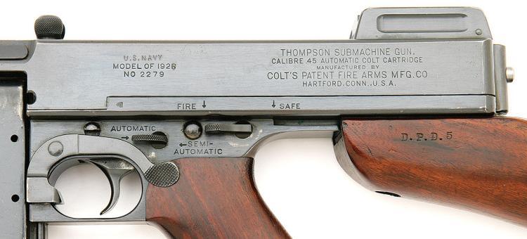 U S  Model 1921/28 Navy Thompson Submachine Gun By Colt Fire