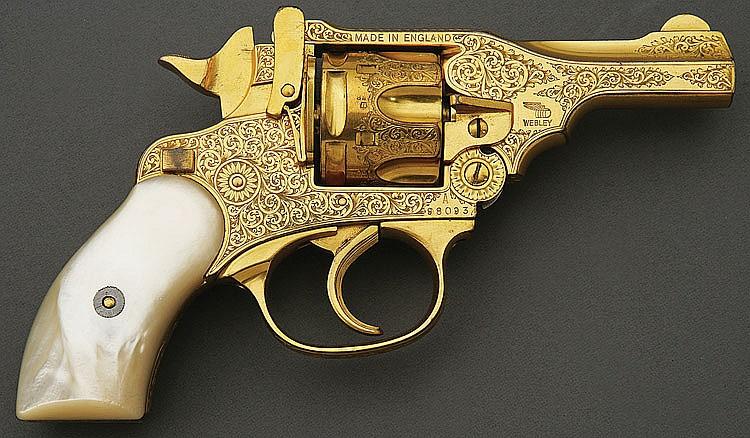 Webley & Scott Mark Iv Engraved And Gold Plated Revolver
